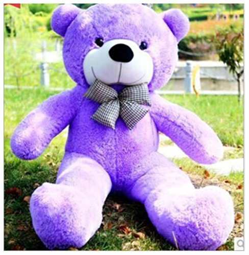 100CM GIANT BIG CUTE PURPLE PLUSH TEDDY BEAR New Currents HUGE SOFT (Giant Teddy Bear Costume)