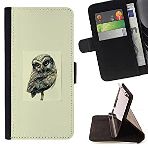 Momo Phone Case / Flip Funda de Cuero Case Cover - Muchos búho de ojos - arte abstracto - Samsung Galaxy S3 III I9300