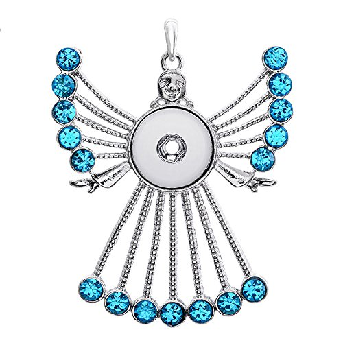 (2017 New Crystal Alloy Pendant for Fit Noosa Necklace Snap Chunk Button A57)