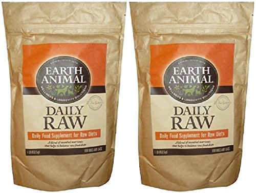 Earth Animal Daily Food Supplement for Raw Diets, 1 Pound Per Bag (2 Pack) by Earth Animal
