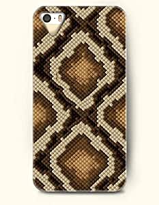 iPhone 5/5S Case, OOFIT Phone Cover Series for Apple iPhone 5 5S Case (DOESN'T FIT iPhone 5C)-- Gold And Beige Serpentine Grain Diamond -- Snake Skin Print