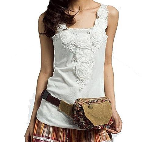 Paonies femme avec ceinture en toile Imprimé banane Ceinture de voyage, sac  de sport, sac vacances  Amazon.fr  Bagages db335d10763