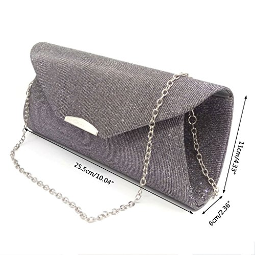 Bag Dabixx Prom Women Bridal Shoulder Envelope Wedding Gold Party Clutch Evening Black Handbag rqWqtxa
