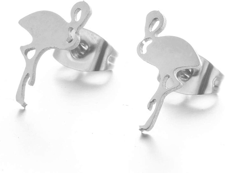 Pendientes colgantes, Multiple Silver Golden Stainless Steel Animal Heart Cute Stud Earrings For Women Girls Fashion Minimalist Earrings Jewlery Gift
