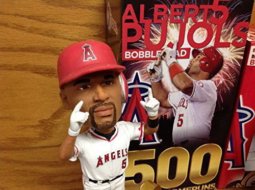 (Albert Pujols 500 CAREER HOME RUNS Los Angeles Anaheim Angels 2014 STADIUM PROMO Bobblehead SGA)