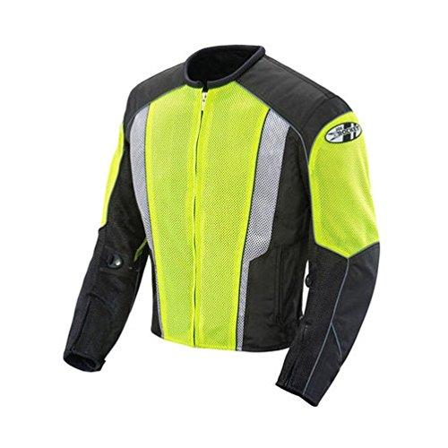 Joe Rocket Phoenix 5.0 Men's Mesh Motorcycle Riding Jacket (Hi-Vis Neon/Black, X-Large)