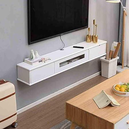 SXFYZCY Armario de TV Armario de Almacenamiento montado en la Pared decodificador de enrutador Bastidor de Almacenamiento Muebles para el hogar Armario de TV Minimalista Moderno: Amazon.es: Hogar