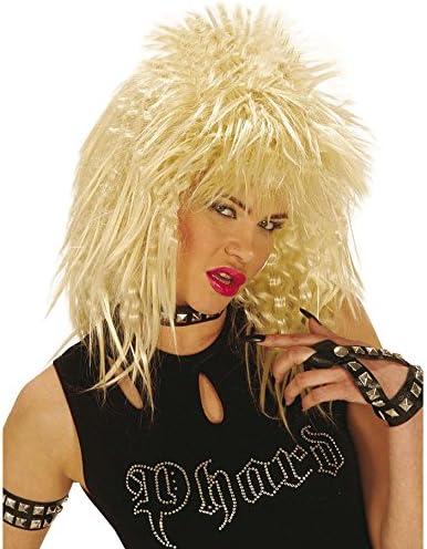 Estrella de la peluca Pop Rocker Girl Kiss Rubio del Carnaval de ...