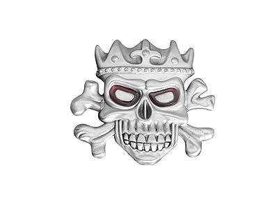 Cinturón Hebilla Hebilla metálica King Skull aleación de cinc