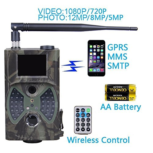 E-TECHING Trail Camera 1080P HD 12MP MMS Email Infrared ...