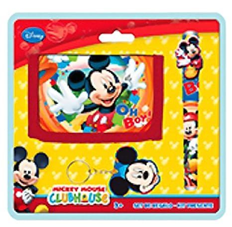 Mickey y sus amigos - Set regalo Navidad cartera bolígrafo y ...