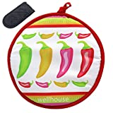 11 tortilla press - Wellhouse Tortilla Warmer 11 Inch Insulated Cloth Food Warmer Microwavable Fabric Pouch to Keep Tortillas Warm and Soft for up to One Hour (White)