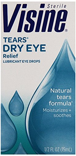 Visine Tears Dry Eye Relief Drops, 0.5 Ounce - 1 Pack