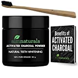aimnaturals Best Canadian Natural Teeth Whitening Activated Charcoal Powder In Bulk (50g) + FREE Toothbrush + FREE Benefits of Activated Charcoal eBook Value Pack (6 Months Supply)| 100% Pure Food Grade, No Artificial Flavors or Hardwood Used