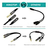 Kingtop 3.5mm Combo Audio Adapter Cable for