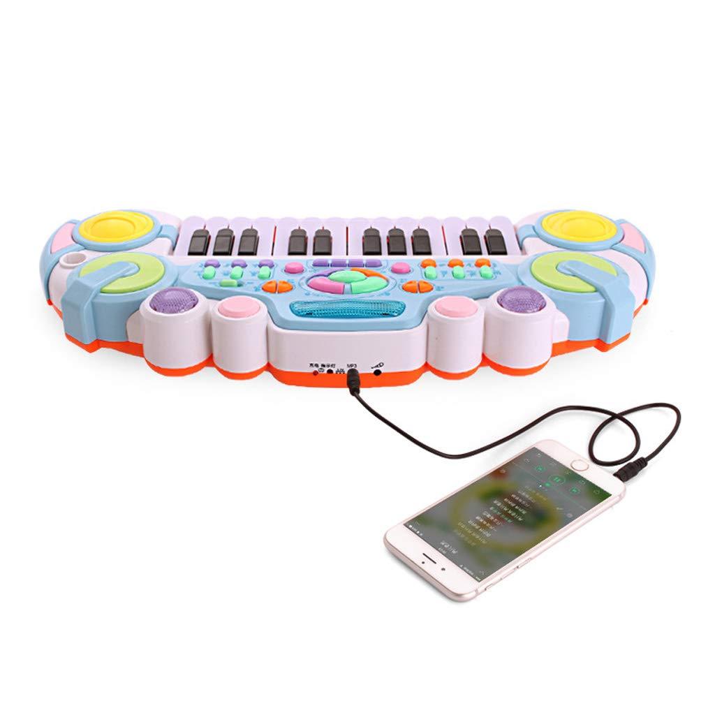LIPENG-TOY Pianoforte elettronico per Bambini Bambino Multifunzione Giocattolo elettronico Pianoforte elettronico con Microfono Puzzle Educazione precoce Bambini Strumenti Musicali (colore   rosa)