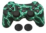 PS3 Controller Wireless - KPLN PS3 Remote Control Gamepad for PlayStation3, PS3 (Lightning Green)