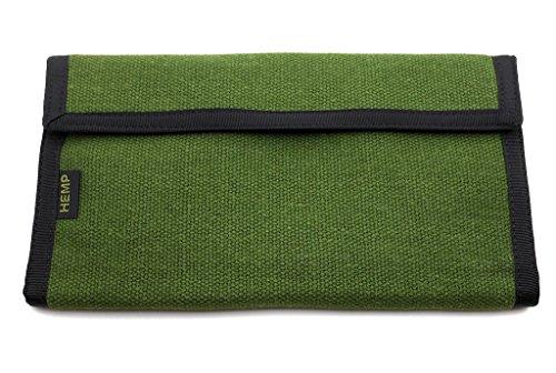 Hempmania Hemp Checkbook Wallet - Moss Green - One -