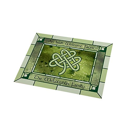 Home Celtic Decor (Personalized Irish Celtic Knot 18x24 Doormat, St. Patrick's Day, Fleece Material, Indoor/Outdoor)