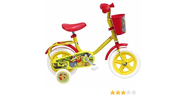 Disney Winnie The Pooh Bicicleta niño, Color Rojo/Amarillo, tamaño ...