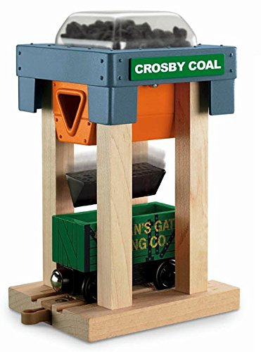 Thomas Wooden Railway - Crosby Coal Loader Hopper and Car - Loose Brand New (Thomas The Train Wooden Murdoch)