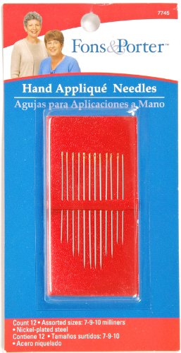 - Fons & Porter 7745 Hand Appliqué Needles, Size 7, 9, 10, 12-Count