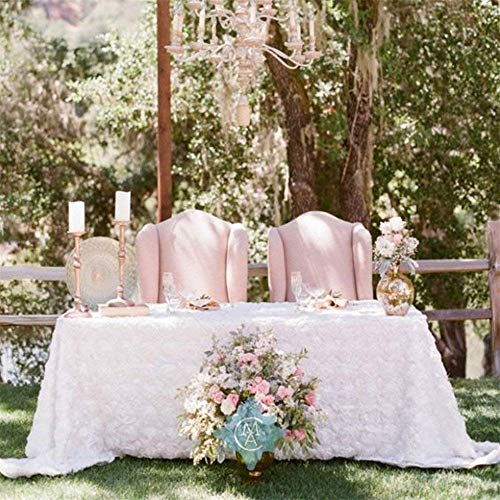 Buy rosette tablecloths for rectangle tables