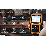 ANCEL AD410 OBD II Vehicle Check Engine Light Scan Tool Automotive Code Reader Auto OBD2 Scanner with I/M Readiness (Black-Orange)