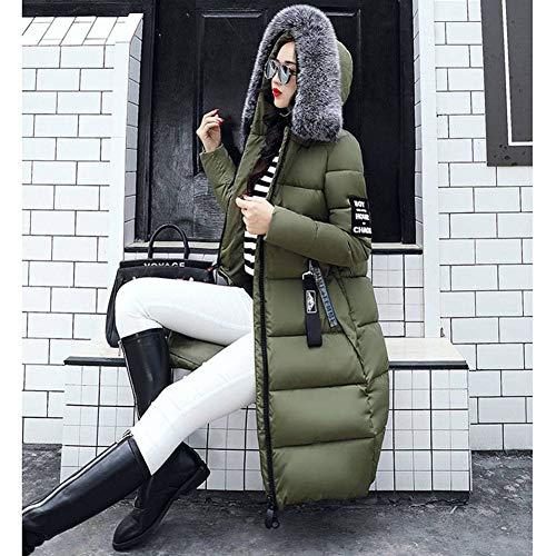 Cappuccio Verde Caldo Esercito xxxl Invernali Lungo M Piumino Cappotto Con Hibote Parka Donne ffwH7UIx