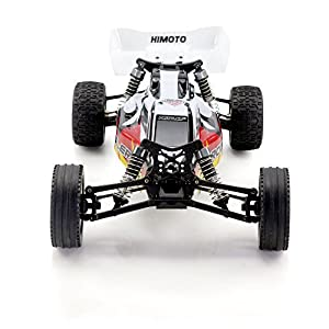 HIMOTO E12XB RC Brushed Racing Car 1/12 Scale 2.4G 2WD Electric Power Off Road Buggy Car with 50 km/h+ High Speed, White & Red