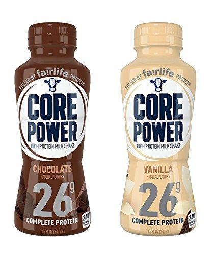 Core Power 26g High Protein Milk Shake - 12 - 11.5oz Bottles (Chocolate Vanilla Combo)
