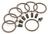 iron curtain rings - Perfect Order Iron Metal Curtain Clip Rings 2 Inch Interior Diameter (20, Copper Antiqued)
