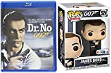 Exclusive Movie Figure 007 James Bond Dr. No Blu-ray with Funko Pop Blofeld Vinyl Sean Connery 2-piece Bundle