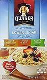 Quaker Instant Oatmeal, Lower Sugar Variety 10 pkts , 11.5oz