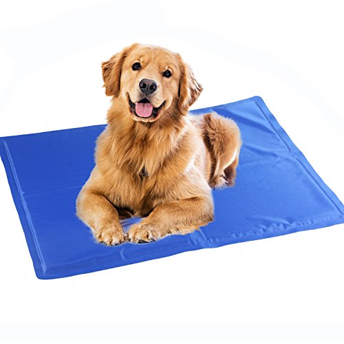 augymer dog cooling mat, cool gel mat chilly gel pad for pet dogs cats cooling bad mats 65*50cm