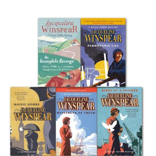 Jacqueline Winspear a Maisie Dobbs Mystery Collection 5 Books Set, (Birds of a feather, maisie dobbs, messenger of truth