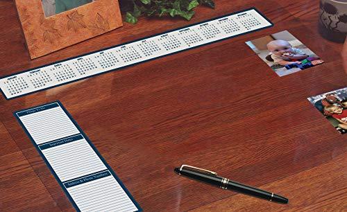 House of Doolittle See-Thru Desk Pad Organizer Extra Heavy Gauge Vinyl 36 x 20 Inch (HOD887)