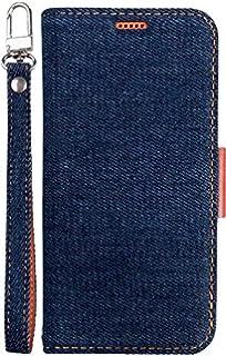 1a31c70c4 iPhone Xs iPhone X ケース 手帳型 デニム 生地 ストラップ 付き マグネット 式 ベルト スタンド 機能