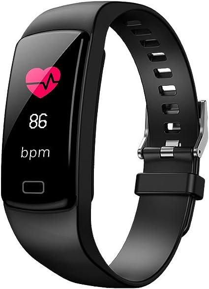 Imagen deSparY Fitness Tracker-Smart Watch Fitness Wristband-Rastreador de Actividad de presión Arterial a Prueba de Agua con cronómetro,GPS,podómetro,Contador de Pasos para Mujeres Hombres(Negro)