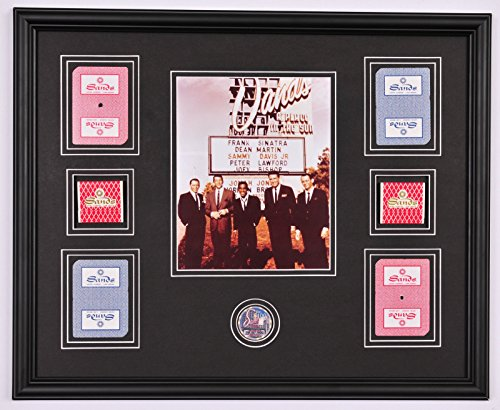 RAT Pack Sands Hotel Photo Framed Display w/ Cards , Poker Chip and Matchbooks (Display Framed Photograph)