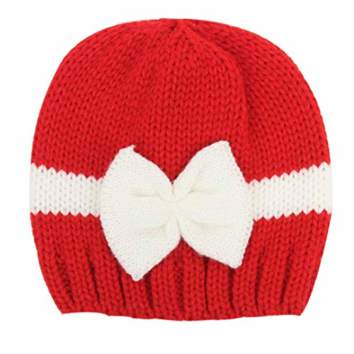 [Tenworld Newborn Unisex Baby Winter Warm Knit Hat Cap Photo Prop Outfits (Red)] (Infant Red Minnie My First Disney Costumes)