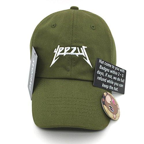 Yeezus Hat Baseball Cap Strapback Adjustable Men Women Tour Green 113eea003e81