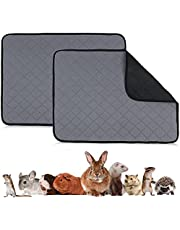 Guinea Pig Fleece Cage Liners,2PC Washable Pee Pads & Anti Slip Guinea Pig Bedding, Waterproof, Non-Slip,Super Absorbent Pet Bedding, for Hamsters, Hedgehogs, Puppies, Cats, Rabbits,Small Animals