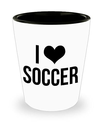 Image Unavailable  sc 1 st  Amazon.com & Amazon.com: I love Soccer. Best Shot Glass- Soccer Gift Ideas for ...