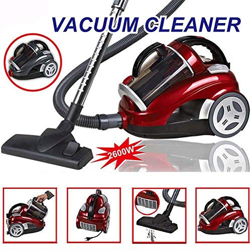 Cyclonic Vacuum With Filter, Comes With Telescopic Wand, Combination Bristle Brush/Crevice Nozzle And Retractable Cord, Bagless Canister,2600W Vacuum Household Vacuum Cleaner