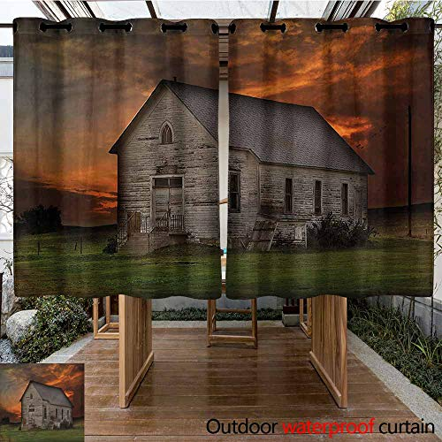 Sunnyhome Outdoor Curtain Panel for Patio Western South Dakota United States for Porch&Beach&Patio W 55