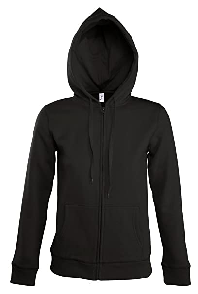 Amazon.com: SOLS Seven - Chaqueta con capucha para mujer ...
