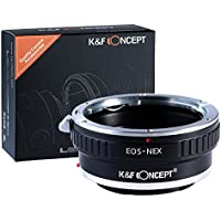K&F Concept Lens Mount Adapter, Canon EOS Lens to Sony Alpha Nex E-mount Camera Adapter, fits Sony NEX-3, NEX-5, NEX-5N, NEX-7, NEX-7N, NEX-C3, NEX-F3, Sony Camcorder NEX-VG10, VG20, FS-100, FS-700, fits EOS EF