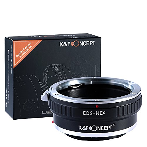 K&F Concept Lens Mount Adapter Compatible with Canon EOS Lens to Sony Alpha Nex E-Mount Camera Body,fits for Sony NEX-3, NEX-5, NEX-5N, NEX-7, NEX-7N, NEX-C3, NEX-F3 (Lens Camera Adapter Sony)