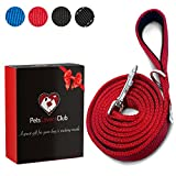 Heavy Duty Dog Leashes For Large Dogs | Comfortable Padded Grip to Hold Strong Dogs | Reflective Lines for Safe Night Walks | Recommended For Medium & Large Dogs | 6ft x 1in